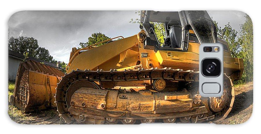 Construction Galaxy S8 Case featuring the photograph Bulldozer by Brandon Alms