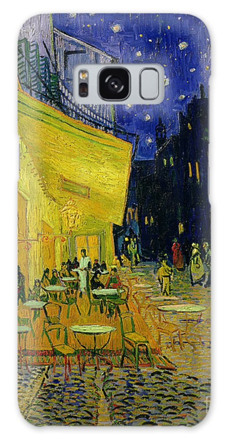 Cafe Terrace Galaxy Case featuring the painting Cafe Terrace Arles by Vincent van Gogh