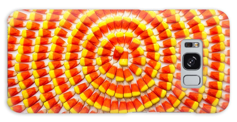 Arranged Galaxy S8 Case featuring the photograph Candy Corn In Circles by Teri Virbickis