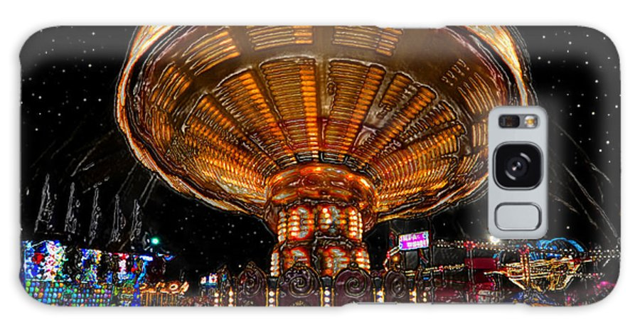 State Fair Galaxy S8 Case featuring the painting Carnival Night by David Lee Thompson