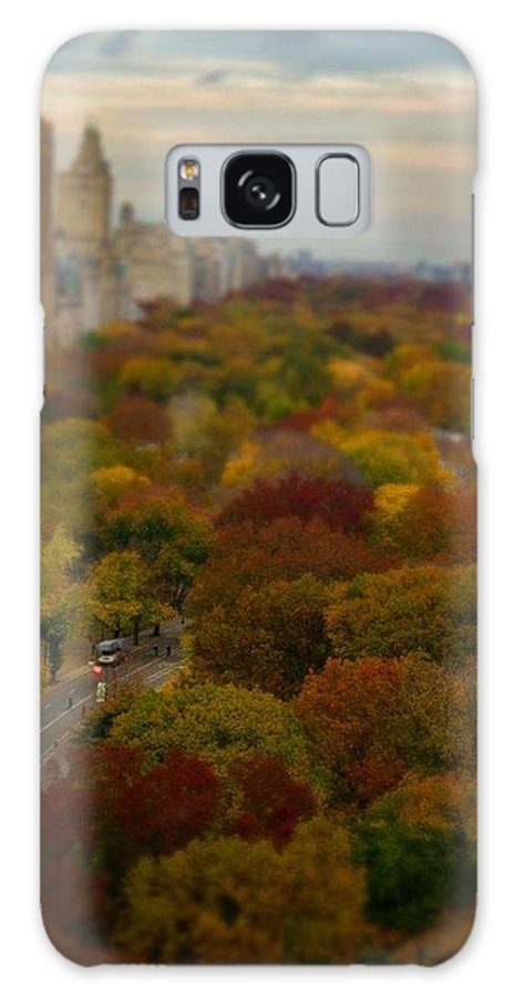 Central Park Galaxy S8 Case featuring the photograph Central Park In Autumn by Kathleen Odenthal