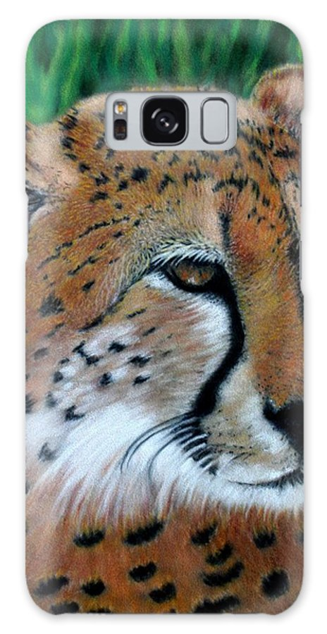 Children's Rooms Galaxy S8 Case featuring the painting Cheetah by Carol McCarty