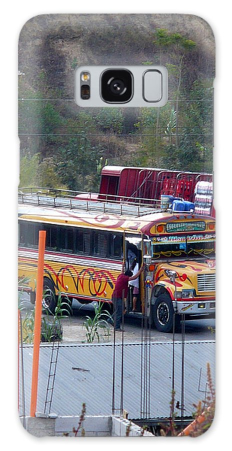 Bus Galaxy S8 Case featuring the photograph Chicken Bus In El Tizate by Nicki Bennett