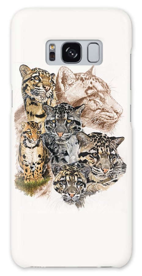Clouded Leopard Galaxy S8 Case featuring the mixed media Cloudburst by Barbara Keith
