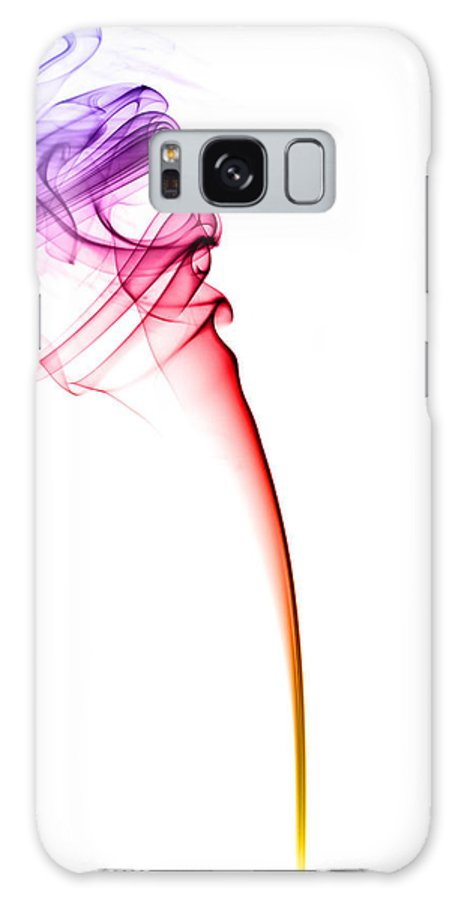 Colourful Smoke On A White Background Galaxy S8 Case featuring the photograph Colourful Smoke by Samuel Whitton