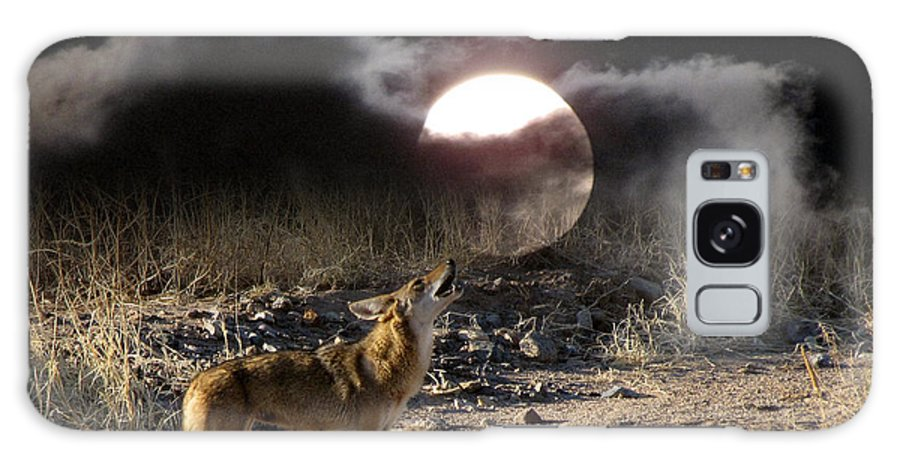 Desert Wildlife Galaxy S8 Case featuring the photograph Coyote Moon by Rick Wheeler