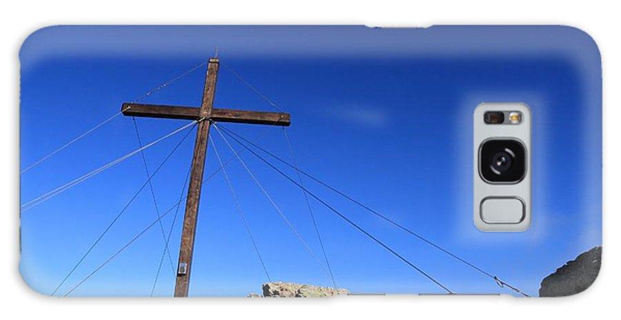 Balagne Galaxy S8 Case featuring the photograph Cross At Capu Di A Veta Near Calvi In Corsica by Jon Ingall