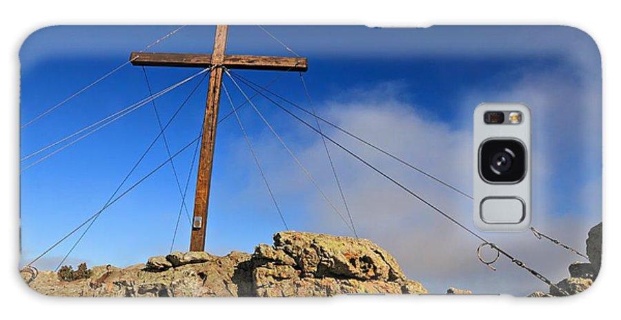 Balagne Galaxy S8 Case featuring the photograph Cross At Capu Di A Veta Near Calvi by Jon Ingall