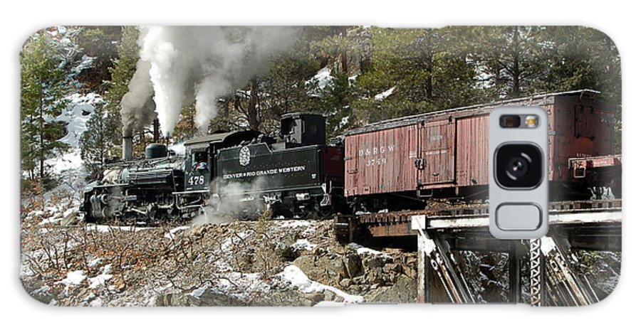 Steam Train Galaxy S8 Case featuring the photograph Crossing The High Bridge by Ken Smith