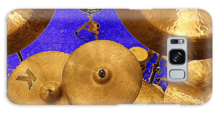 Percussion Galaxy S8 Case featuring the digital art Cymbals by Philip Dammen