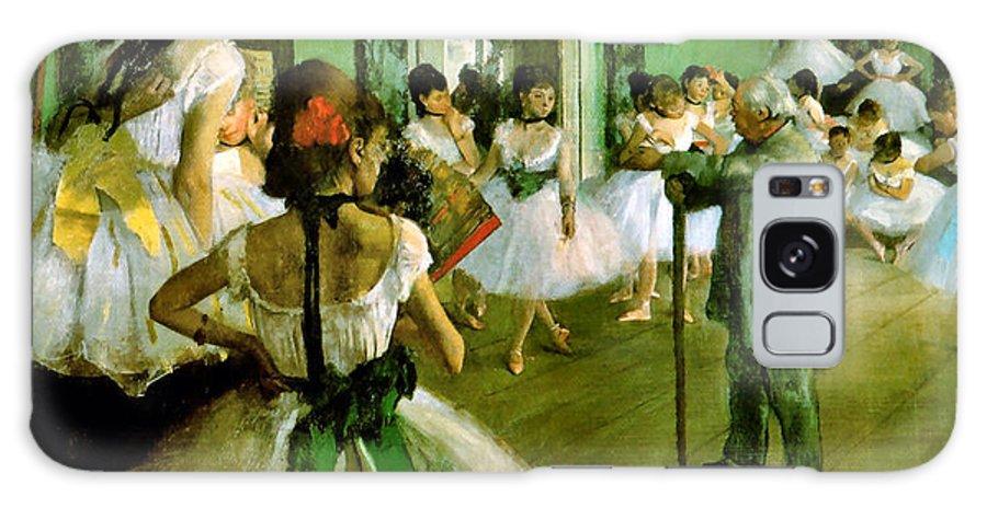 Edgar Degas Galaxy S8 Case featuring the digital art Dance Class by Edgar Degas