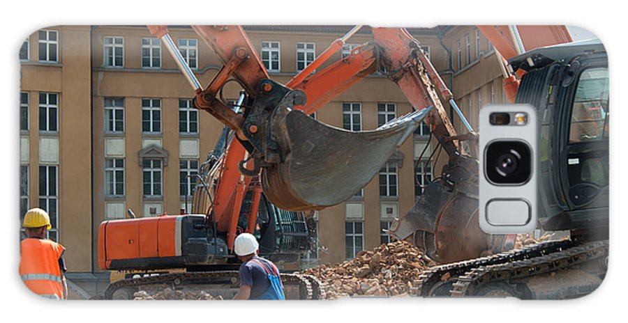Demolition Galaxy S8 Case featuring the photograph Demolition Vehicles At Work by Frank Gaertner