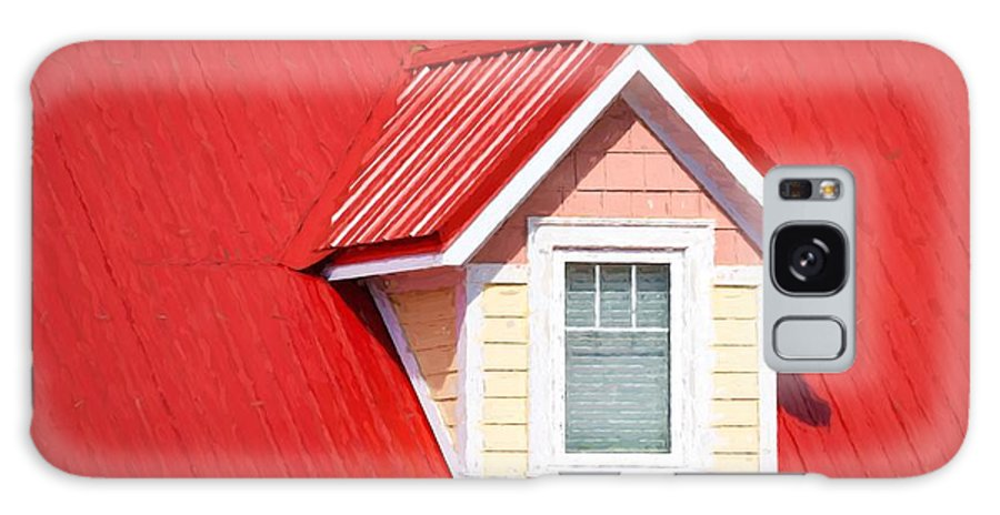 Dormer Galaxy S8 Case featuring the photograph Dormer Window On Red Roof by Les Palenik