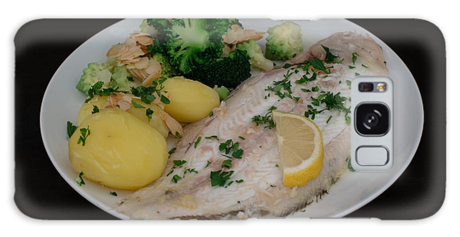 Dover Galaxy S8 Case featuring the photograph Dover Sole Fish Dinner by Frank Gaertner