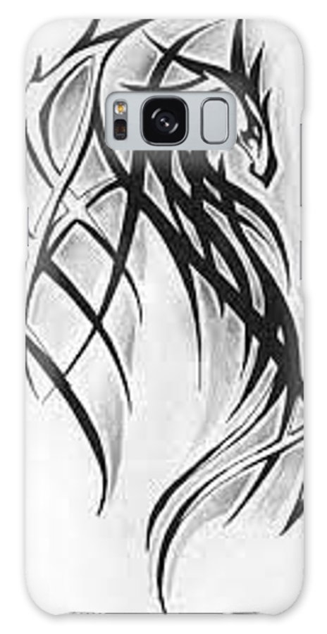 Portrait Galaxy S8 Case featuring the painting Dragon by Vasanth Williams