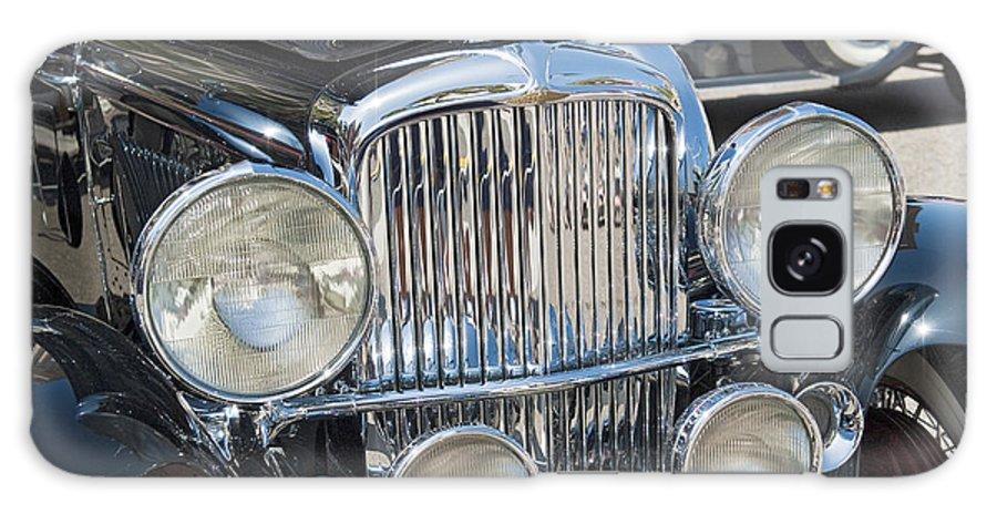 Duesenberg Galaxy S8 Case featuring the photograph Duesenberg Front Chrome Automobile Grille by David Zanzinger