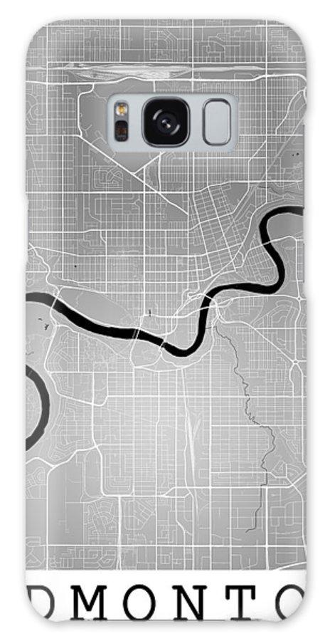 Road Map Galaxy S8 Case featuring the digital art Edmonton Street Map - Edmonton Canada Road Map Art On Colored Ba by Jurq Studio
