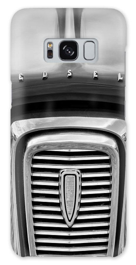 Edsel Corsair Grille Emblem Galaxy S8 Case featuring the photograph Edsel Corsair Grille Emblem by Jill Reger