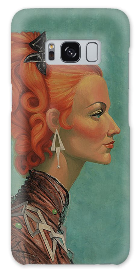 Portrait Galaxy S8 Case featuring the painting Elegant Neck by Florine Duffield