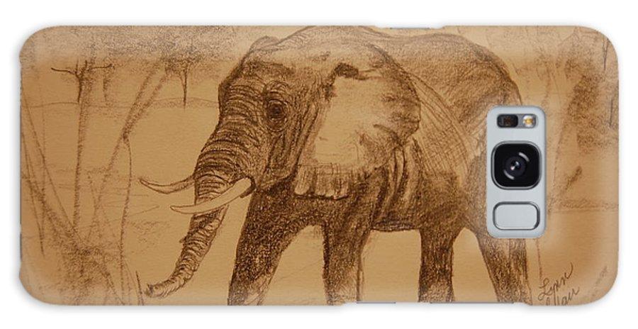 Animal Paintings Galaxy S8 Case featuring the painting Elephant Walk by Lynn Beazley Blair