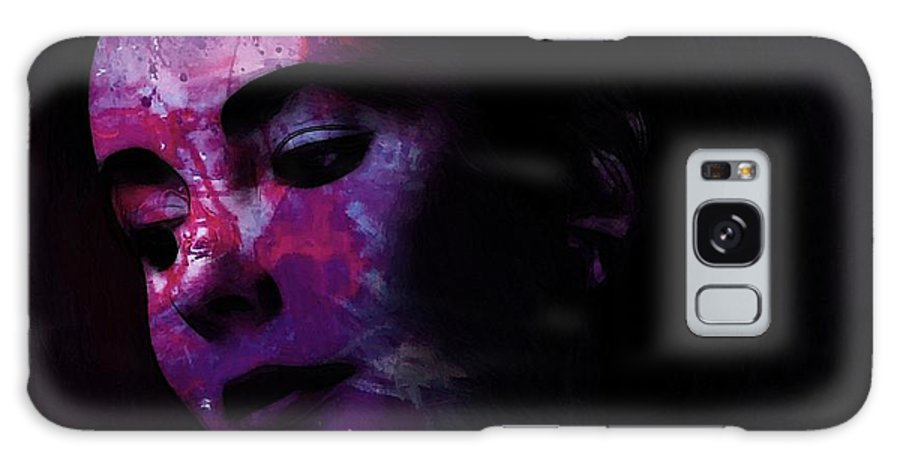 Face Portrait Liz Taylor Beauty Actress Famous Female Woman Erotic Sexy Eye Eyes Galaxy S8 Case featuring the painting Facets Of Beauty by Steve K