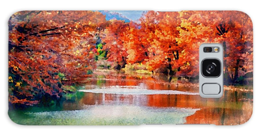 River Galaxy S8 Case featuring the photograph Fall On The Guadalupe Wc by Ken Williams