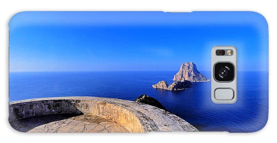 Blue Galaxy S8 Case featuring the photograph Famous Tower Of Savinar On Ibiza Island by Karol Kozlowski