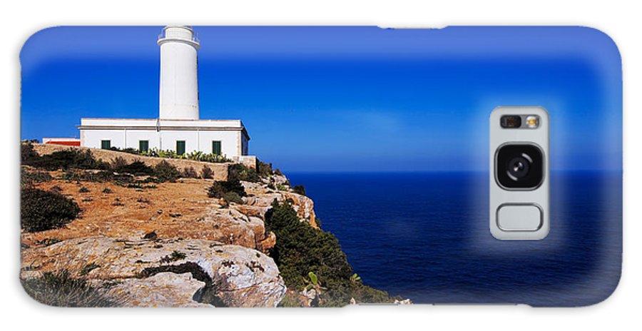 Lighthouse Galaxy S8 Case featuring the photograph Far De La Mola On Formentera by Karol Kozlowski
