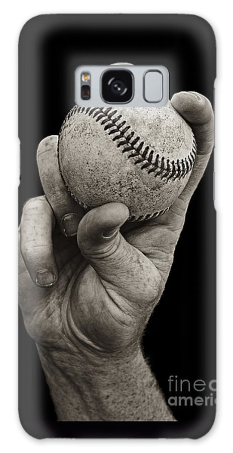 Baseball Galaxy S8 Case featuring the photograph Fastball by Diane Diederich