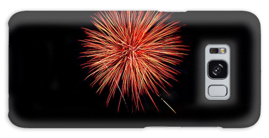 New Year's Day Galaxy S8 Case featuring the photograph Fireworks Display by Rachel Sanderoff
