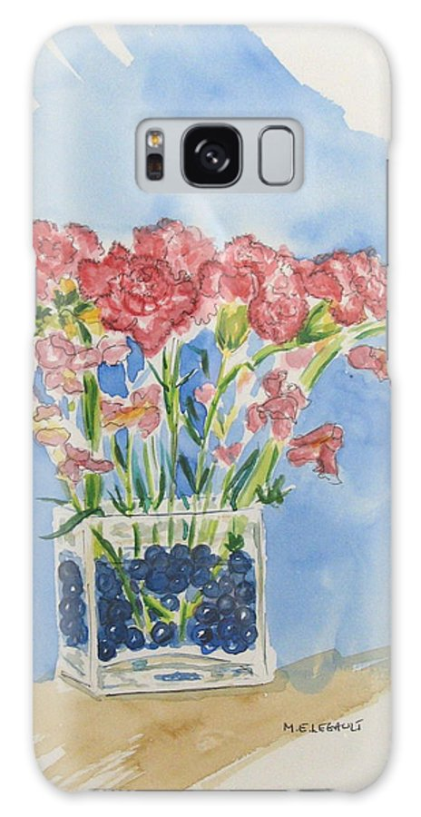 Flowers Galaxy S8 Case featuring the painting Flowers In A Vase by Mary Ellen Mueller Legault