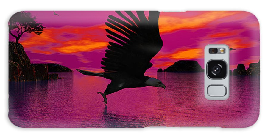 Eagle Galaxy S8 Case featuring the digital art Flying Home by Robert Orinski