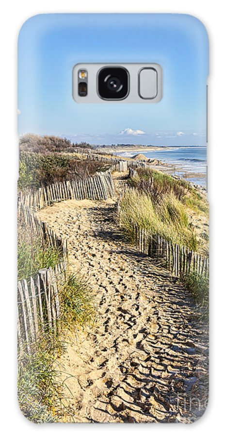Beach Galaxy S8 Case featuring the photograph Footpath On The Atlantic Dune In Brittany by Radu Razvan