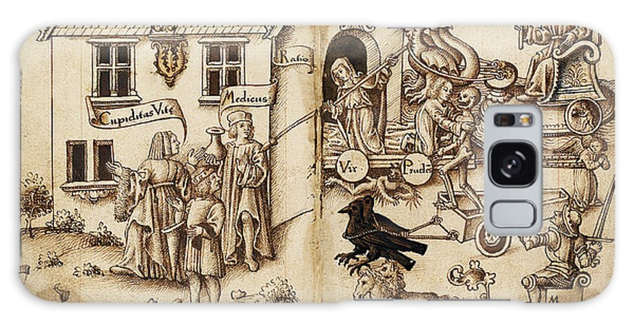 French Galaxy S8 Case featuring the drawing French Early 16th Century by Quint Lox