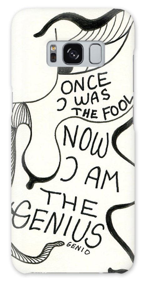 Genio Galaxy S8 Case featuring the drawing From Fool To Genius by Genio GgXpress