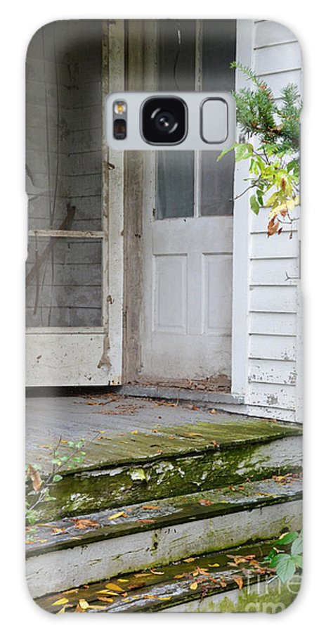 Old Galaxy S8 Case featuring the photograph Front Door Of Abandoned House by Jill Battaglia