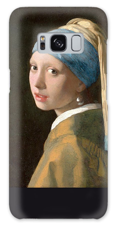 Girl With A Pearl Earring Galaxy S8 Case featuring the painting Girl With A Pearl Earring by Johannes Vermeer