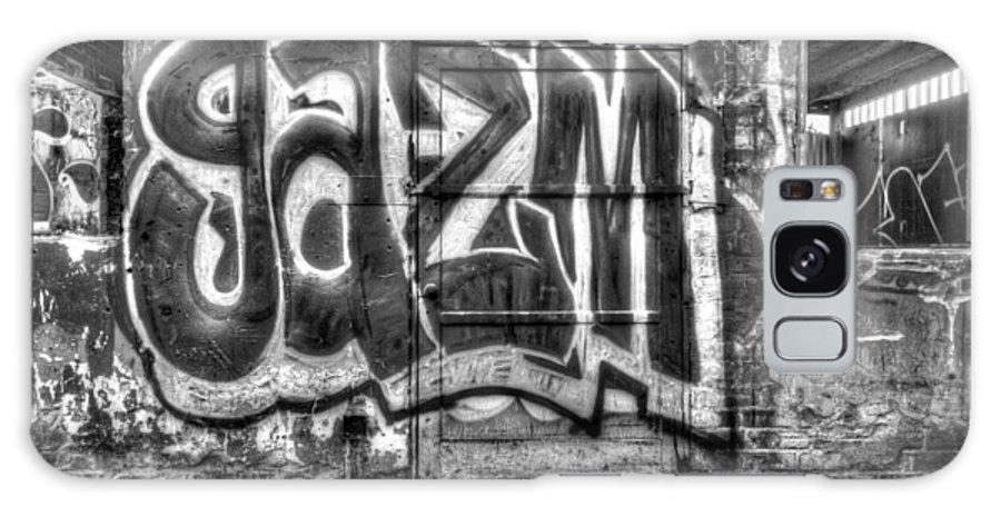 Graffiti Gazm Galaxy S8 Case featuring the digital art Graffiti Door by Purple Moon