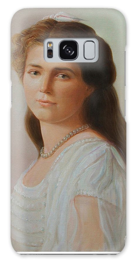 Grand Duchess Maria Nikolaevna Of Russia Galaxy S8 Case featuring the painting Grand Duchess Maria Nikolaevna Of Russia by George Alexander