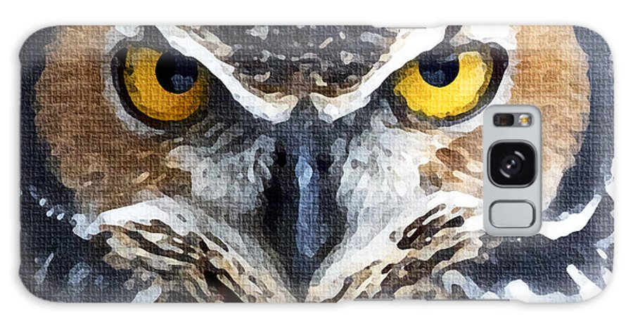 America Galaxy S8 Case featuring the digital art Great Horned Owl by Precision Images