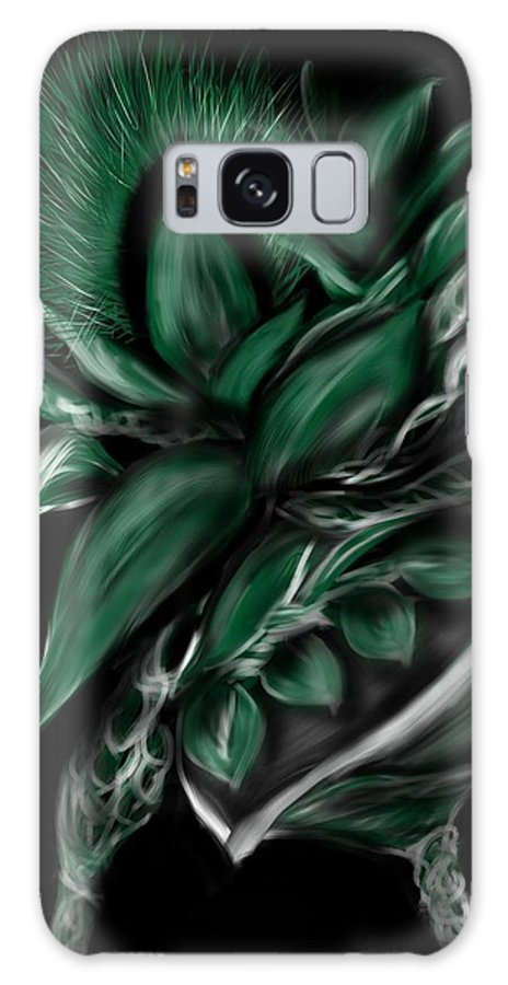 Greenery Galaxy S8 Case featuring the digital art Greenery Gourd by Christine Fournier