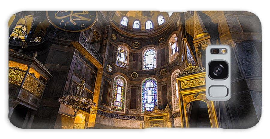 Sofia Galaxy S8 Case featuring the photograph Hagia Sophia Church Istanbul Turkey by Yordan Rusev