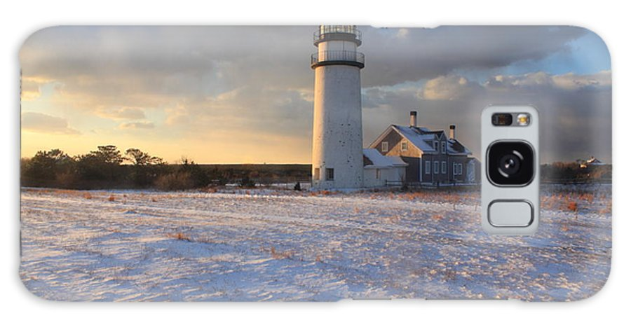 Cape Cod Galaxy S8 Case featuring the photograph Highland Lighthouse Winter Sunset by John Burk