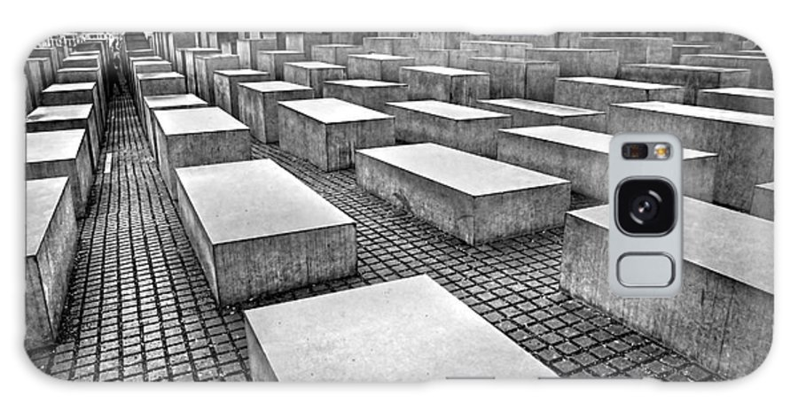Abstract Galaxy S8 Case featuring the photograph Holocaust Memorial - Berlin by Luciano Mortula