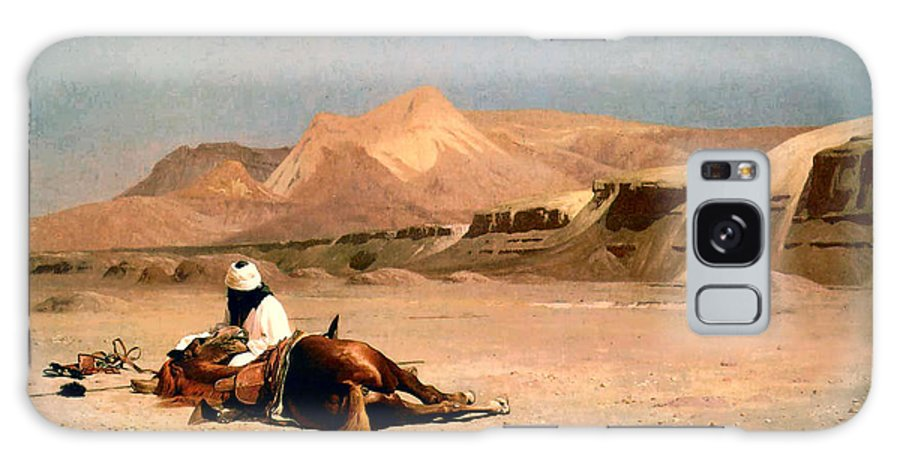 In The Desert Galaxy S8 Case featuring the digital art In The Desert by Jean-Leon Gerome