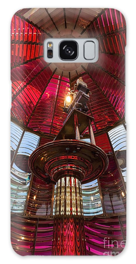 Bright Color Galaxy S8 Case featuring the photograph Interior Of Fresnel Lens In Umpqua Lighthouse by Bryan Mullennix