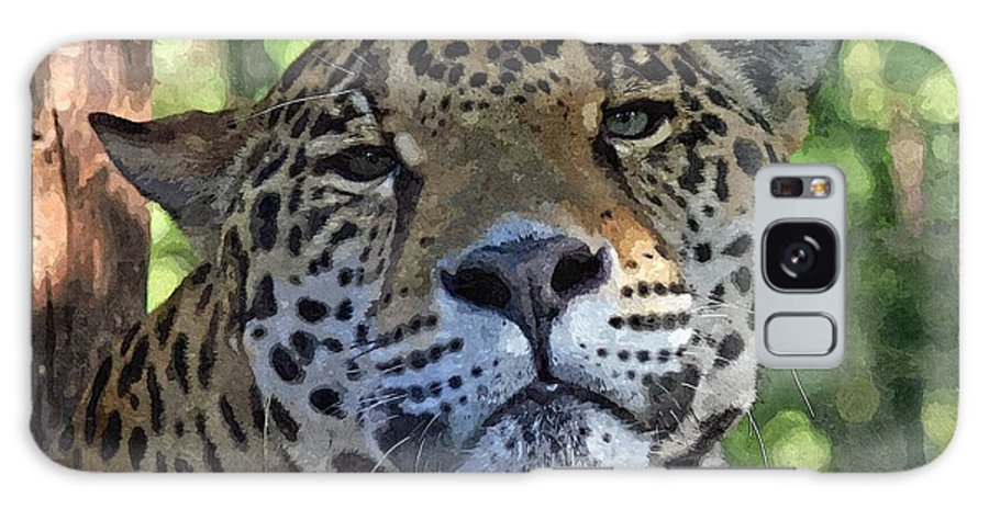 Animal Galaxy S8 Case featuring the mixed media Jaguar 2 by Barry Spears