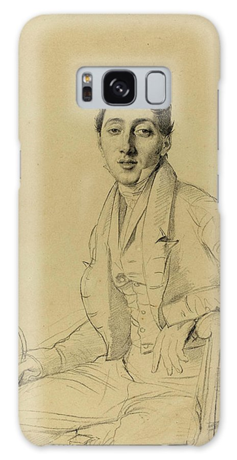 Jean-auguste-dominique Galaxy S8 Case featuring the drawing Jean-auguste-dominique Ingres French, 1780 - 1867 by Quint Lox
