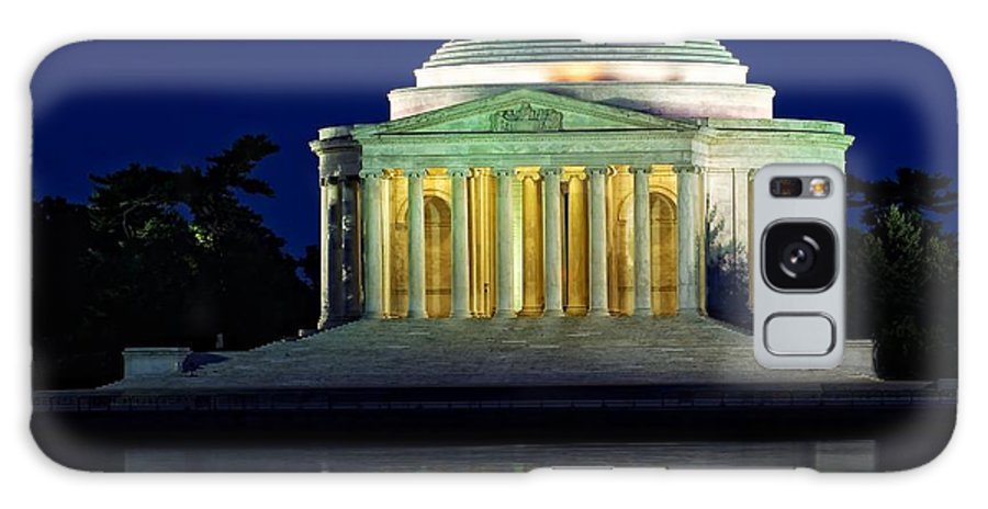 Jefferson Galaxy S8 Case featuring the photograph Jefferson Memorial At Night by Nick Zelinsky