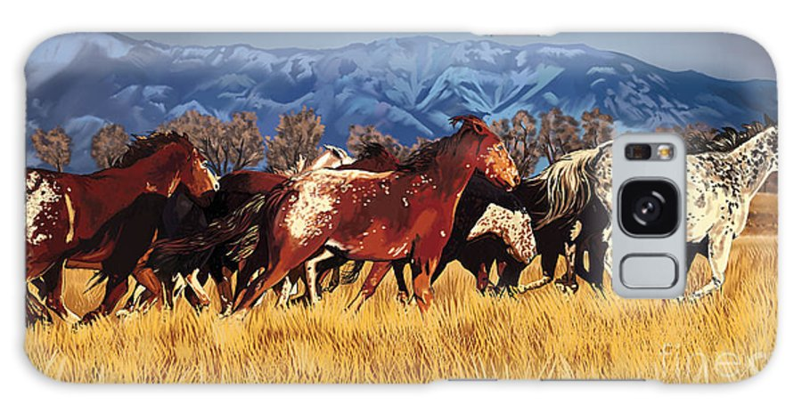 Mustang Galaxy S8 Case featuring the painting Joe's Horses by Tim Gilliland